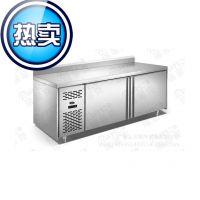 限时促销 1.5米 靠背 保鲜工作台 不锈钢操作台 冷藏柜 商用厨房