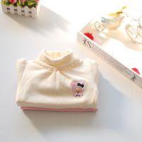 秋冬童装 女童高领花边羊毛拉架高档打底衫T恤 9644