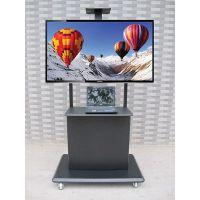 晶固液晶电视移动支架 32-84寸长虹/海信/创维 带机箱柜移动落地推车