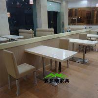 餐厅老板采购圆形大理石餐桌 人造大理石餐桌 圆桌 餐厅定制