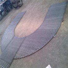 旺来q235网格板 格栅板规格 防滑条踏步板