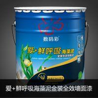 十大墙面漆品牌排行榜,数码彩爱+鲜呼吸海藻泥金装全效墙面漆DE39F