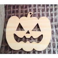 加工定做木质工艺品/万圣节装饰挂件/南瓜造型椴木饰品