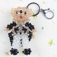 特价小熊钥匙扣创意钥匙链钥匙圈水晶汽车挂件2773-CHHD
