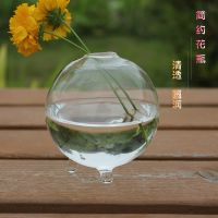 迷你圆形透明水培花瓶 玻璃工艺品 时尚家居装饰品 低价批发