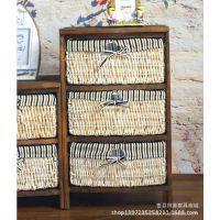 厂家直销~美式田园风格家具~简约实木床头柜储物柜 G105