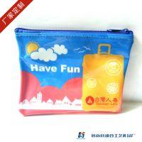 供应PVC广告笔袋 卡通车缝文具袋 多功能透明拉链笔袋