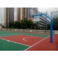 中山篮球场塑料地面施工 丙烯酸地坪漆专用篮球场羽毛球场地建设