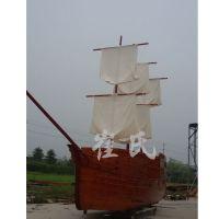 小海盗船景观船装饰木船摄影写真道具船木帆船工艺船古代木船模型