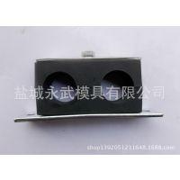 厂家供应 轻型塑料管夹 双联双孔尼龙管夹 水管、油管固定夹