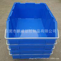 供应塑胶零件盒 斜口塑料盒 大号物料盒 带铁耳零件箱