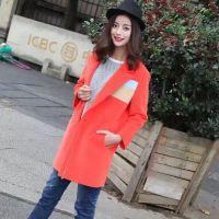 中国原创设计师品牌YC630冬装折扣批发风衣外套连衣裙走份