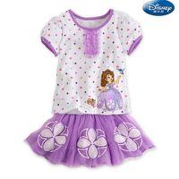 C5童装直批210787新款夏装女童苏菲亚裙装 公主短袖套装批32*5
