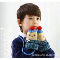 TUTUYA 韩国正品 新款儿童手套女宝宝冬款保暖手套可爱猫咪手套