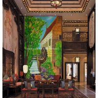 纯手工加工定制手绘油画 客厅卧室装饰画 手绘山水风景油画批发