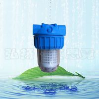 硅磷晶加药过滤器 5寸透明前置滤筒 过滤泥沙阻垢 大胖前置过滤器