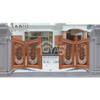 欧雅斯高端豪华折叠庭院大门、铝合金折叠花园优质门定制,欧式电动庭院优质整套门