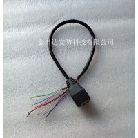 网络尾线 单头网络摄像机连接线 网络高清线 POE网络接口线