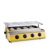 特缤WX-254A无烟烧烤炉商用燃气液化气烧烤炉小四头烤生蚝烧烤炉