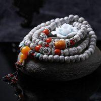 【爆款】尼泊尔正月星月菩提子高密干磨手串蜜蜡配饰男女佛珠手链