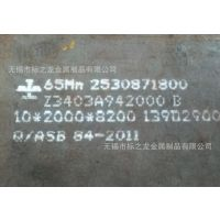厂家直销65Mn弹簧钢板 高耐磨弹簧钢板 厚度1mm-18mm