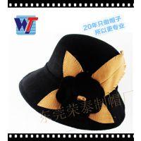 20年定做羊毛毡帽加工厂 礼帽女士 高档瑞丽爵士帽定型帽出口外贸