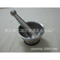 厂家生产不锈钢手动研磨盅 捣药盅 磨粉器 压蒜碗 HD0002