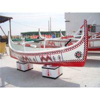 欧式木船4米长土尔其彩绘装饰船 手划观光船公园景观船客船