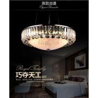 餐厅水晶吊灯奢华led客厅灯具卧室书房灯简约现代创意圆形餐吊灯