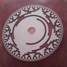 蚀刻金属码盘,不锈钢码盘,金属光栅蚀刻加工