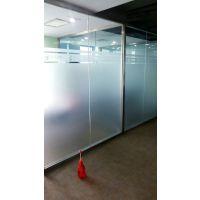 深圳宝安南山石岩龙华办公室玻璃条贴纸磨砂贴纸设计安装