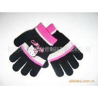 厂家供应 印花 针织手套  魔术手套