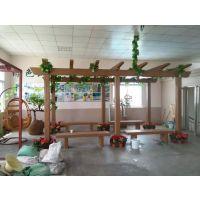 供应郑州天艺仿木长廊、葡萄架、休闲走廊、塑料模具