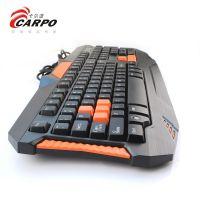 防水键盘游戏按键键盘usb有线键盘T913发光有线游戏键盘