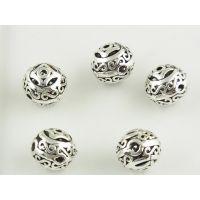 DIY纯银隔珠配件加工生产批发 珠宝首饰来图来样加工定制工厂