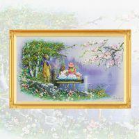 厂家直销淘宝爆款童话森林立体十字绣丝带绣精美客厅卧室挂画