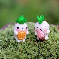 B033 微景观迷你可爱萝卜小兔子公仔摆件 苔藓多肉生态瓶DIY配件