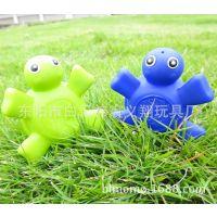 厂家供应儿童婴幼儿洗澡玩具 喷水乌龟搪胶动物 卡通戏水公仔玩具