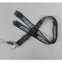 供应双面胶印涤纶织带手机挂绳 批发多功能安全工牌挂带