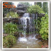 假山鱼池设计 玻璃钢假山喷泉造景叠层 广州松涛专业设计景观工程团队