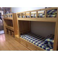 成都松木公寓床,学生上下床,学校实木双层床 贝贝乐家具
