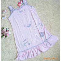 全棉吊带睡衣 睡裙 纯棉卡通睡衣 加宽肩带少女可爱甜美睡衣批发