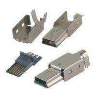 供应迷你USB-5P公头三件套焊线式【手机充电器】