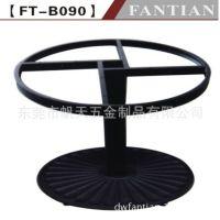 广东餐厅家具工厂销售1.2米圆桌铸铁桌脚台脚桌腿 时尚结实美观