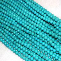 东海水晶 天然绿松石散珠 绿松石半成品 diy手工饰品材料配件