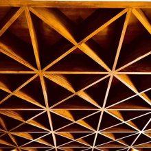 温州铝格栅款式-三角形铝格栅