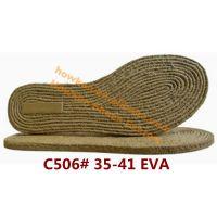 豪肯鞋底厂供应C506#女士EVA仿麻绳人字拖鞋鞋底中底