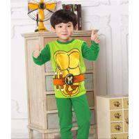童家居服短袖长裤 儿童套装 夏季新款 儿童套装 忍者神龟睡衣