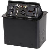 隐藏式桌面插座-弹起式插座-多功能桌面插座 免焊接台面信息盒