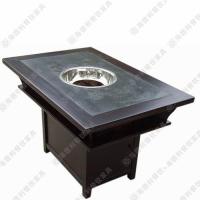 年末促销 欧式酒店餐桌 优质大理石方形8人位火锅桌 批量定做